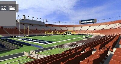 2 Tickets Baltimore RAVENS @ vs Los Angeles RAMS 11/25 Field Sec 126 FRONT ROW