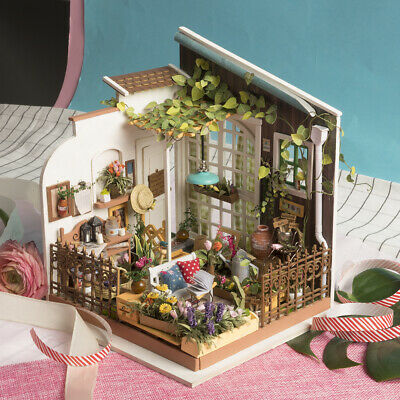 Rolife Fairy Garden Doll House DIY Wooden Miniature Furniture LED Gift for Girls