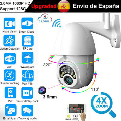 1080P IP Cámara Wifi 4X Zoom HD Video Seguridad Vigilancia In-Exterior IR Webcam