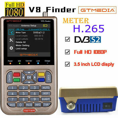 Buscador de satélites GTMEDIA V8 Finder Digital 3.5''LCD Full HD 1080P DVB-S/S2