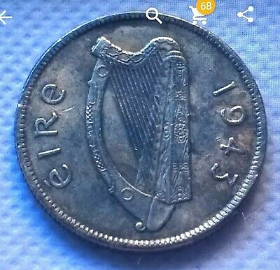 The Famous Ext Rare Irish 1943 Florin In Unc
