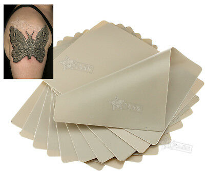 10 Learning Blank Tattoo Tattooing Fake False Practice Skin WHnthetic 20x15cm
