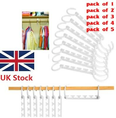 UK Space Saver Magic Hanger Clothing Rack Hook Wonder Closet Organizer Clothes