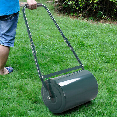 30L Heavy Duty Steel Water or Sand Filled Garden Grass Lawn Roller with Handles