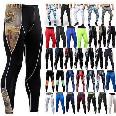 Men Athletic Compression Base Layer Tights Pants Running Gym Under Armour Jogger