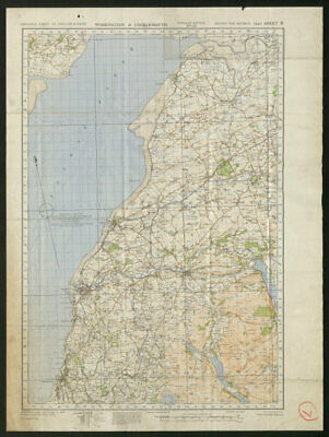 War Revision Sheet 8 WORKINGTON & COCKERMOUTH. ORDNANCE SURVEY 1940 old map