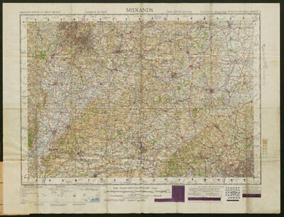 War Office Sheet 8 MIDLANDS. Cotswolds Chilterns. ORDNANCE SURVEY 1948 map