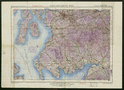 War Revision Army/Air Sheet 2 SCOTLAND SOUTH WEST. ORDNANCE SURVEY 1943 map
