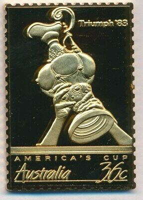 Australia: 1988 24ct Gold on Stg Silver Stamp $99.50 Issue Price - America's Cup