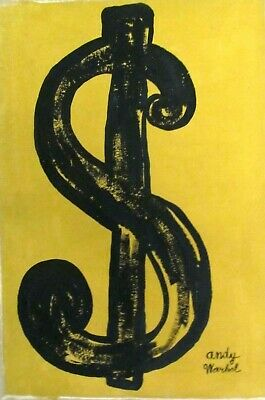 Vintage abstract oil on canvas Andy Warhol Modern art 20th century