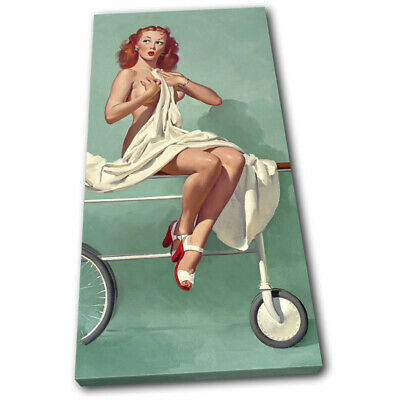 Vintage Girl Poster Retro Pin-ups Nude SINGLE CANVAS WALL ART Picture Print