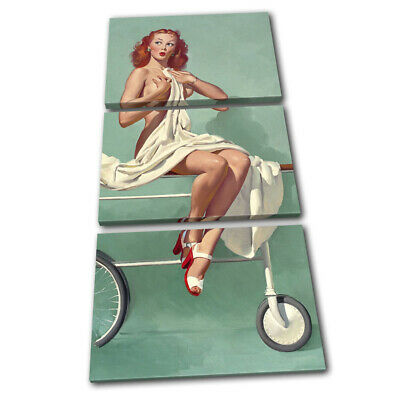 Vintage Girl Poster Retro Pin-ups Nude TREBLE CANVAS WALL ART Picture Print