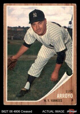 1962 Topps #455 Luis Arroyo Yankees GOOD