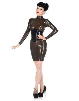 Latex Rubber Gummi Catsuit Sexy Corest Dress Leotard Sweet Fitted Customize .4mm