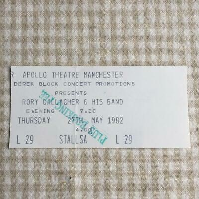 Rory Gallagher ticket Apollo Manchester 27/05/82 Jinx tour