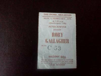 Rory Gallagher  ticket  Brighton Dome 12-02-73  Seat  C53