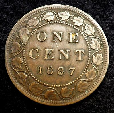 1887 Queen Victoria Canada One Cent Coin