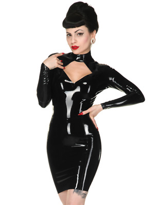 Latex Catsuit Rubber Gummi One-Piece Attract Dress Fantastic Sexy Customize .4mm