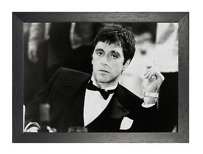 Scarface Sexy Handsome Famouse Movie Poster Film TV Al Pacino Black White Suit