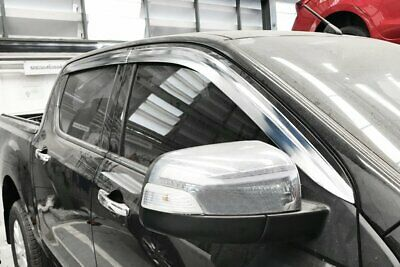 For Ford Ranger 2012+ Chrome Wind Deflectors Set (4 pieces)