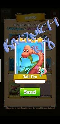 Coin Master Cards - Tall Tim Fast Delivery!! Bazznett08 100% positive trusted!!