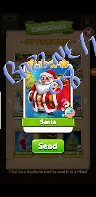 Coin master Cards Santa fast delivery!!Bazznett08 100% positive trusted!!