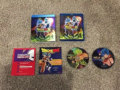 Dragon Ball Z Super Broly Blu-ray DVD VGC USED WALMART LENTICULAR SLIPCOVER
