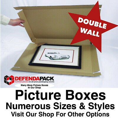 "10 DOUBLE WALL 15 x 1.5 x 11"" PICTURE ART PAINTING POSTAL SHIPPING BOXES POSTING"