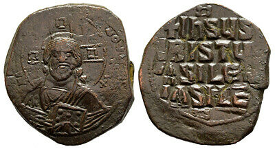 FORVM VF Byzantine Anonymous Follis of Christ Class A3 1023-1028 AD 29.5mm