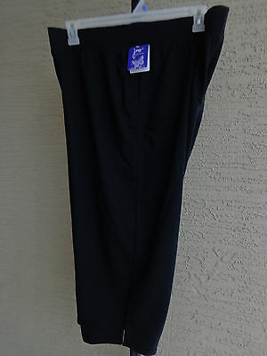 Nwt Just My Size 4X  Pull On French Terry Jersey Knit Capris  Black