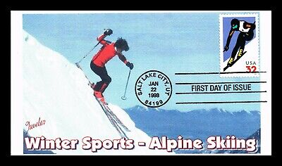 Dr Jim Stamps Us Winter Sports Alpine Skiing Fdc Cover Salt Lake City Utah