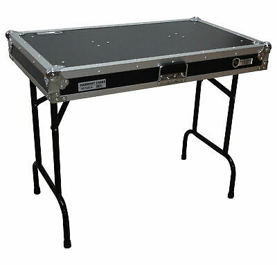 "Harmony HCTABLE  Portable 36"" Wide DJ Workstation Table 30"" Height"