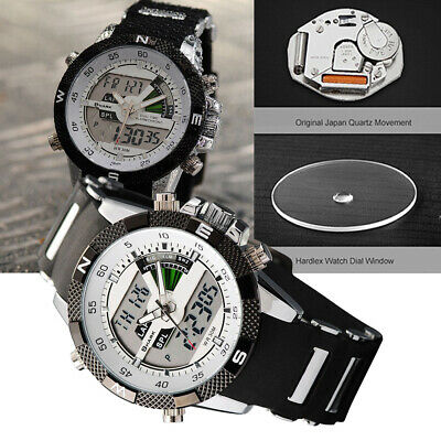 Shark Men's Digital Quartz Wrist Watch LCD Sport Army Date Day Silicone Y2U6L