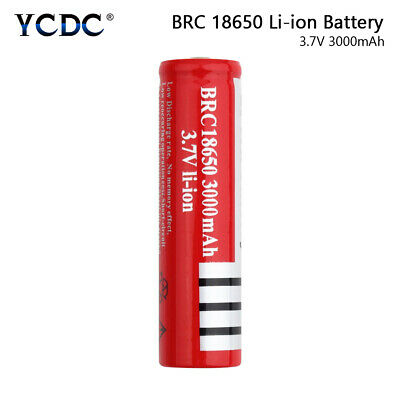 Rechargeable BRC 18650 Battery 3.7V 3000mAh Cell For Flashlight Headlamp Toy FA
