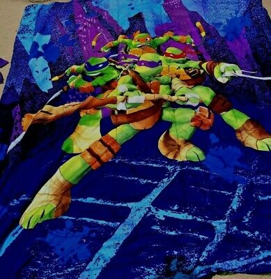 Teenage Mutant Ninja Turtles Full Twin Size Bedding Lamp Shade Valences