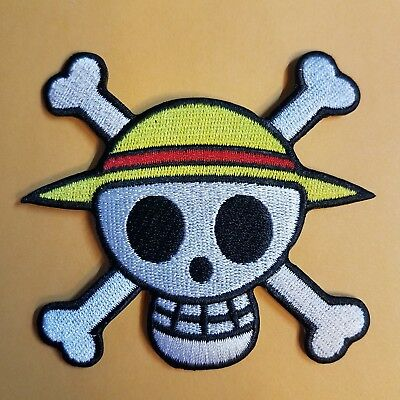 One Piece Animation Pirate Skull Patch 3 1/2 inches Wide
