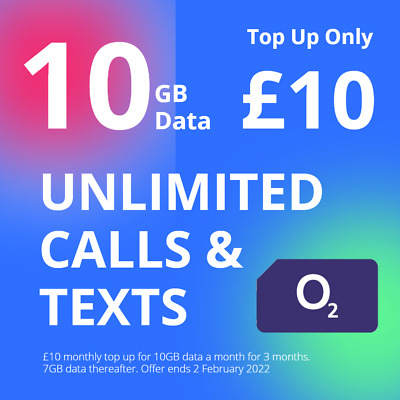 NEW O2 Classic Pay As You Go sim cards. Top up doesn't expire at end of month!