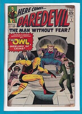 DAREDEVIL #3_AUGUST 1964_GOOD_1st APPEARANCE THE OWL_SILVER AGE MARVEL!