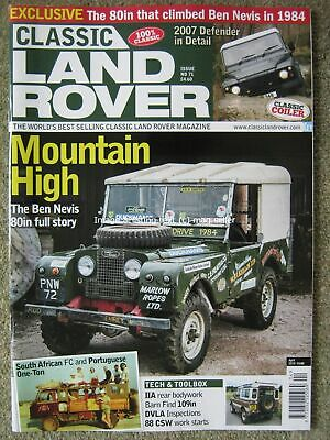 Classic Land Rover April 2019 80in Ben Nevis Defender Series IIa Fire Engine