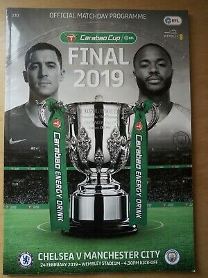 Official match day programme - Chelsea V Manchester City, Carabao Cup Final 2019