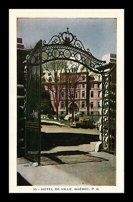 Dr Jim Stamps City Hall Quebec Canada White Border Postcard