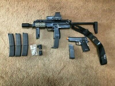 AIRSOFT KWA H&K MP7 GBB W/ 5 Magazines, CQB bolt and extras