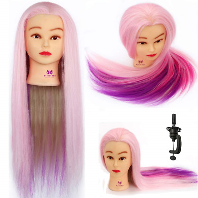 """Neverland Beauty 24"""" Colorful Hairdressing Cosmetology Mannequin Manikin Head +"""