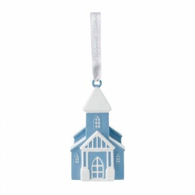 Wedgewood Figural Church Porcelain Christmas Tree Ornament Decoration New