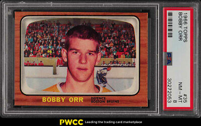 1966 Topps Hockey Bobby Orr ROOKIE RC #35 PSA 8 NM-MT (PWCC)