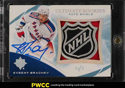 2010 Ultimate Collection Evgeny Grachev ROOKIE RC AUTO SHIELD PATCH 1/1 (PWCC)