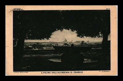 Dr Jim Stamps St Peters From French Academy Rome Italy Postcard