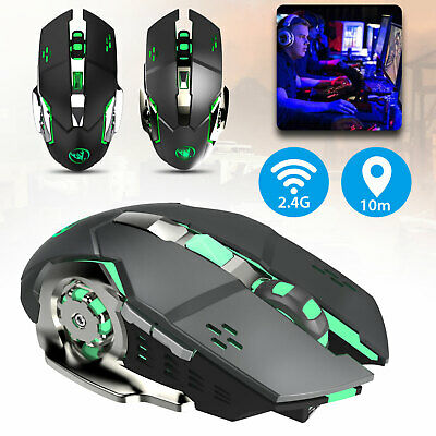 Wireless 2.4GHZ USB 2400DPI Mouse Optical 7 Color LED Gaming Mice for PC Laptop