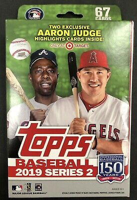THICK! Jersey/Bat/Relic HANGER BOX HOT PACK 2019 Topps SERIES 2 Baseball Value
