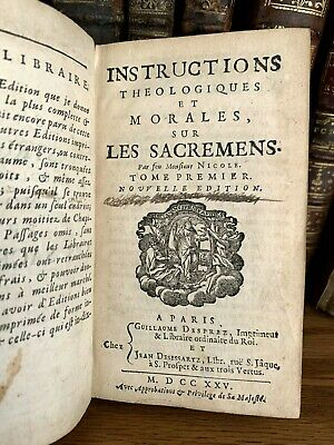 1725 Theological And Moral Instructions On The Sacraments